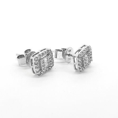 18Ct Diamond studs 0.50Cts