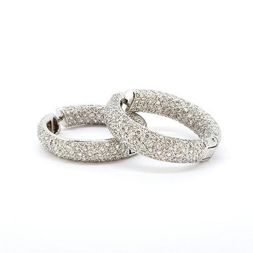 Large diamond hoop earrings est5.0CTS