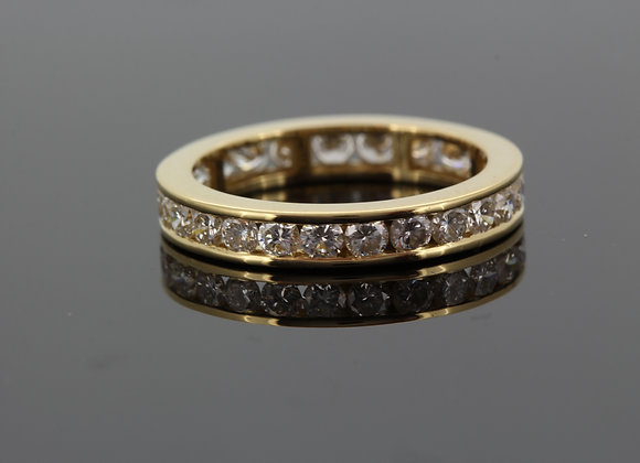 18ct diamond and yellow gold eternity band 1.40cts