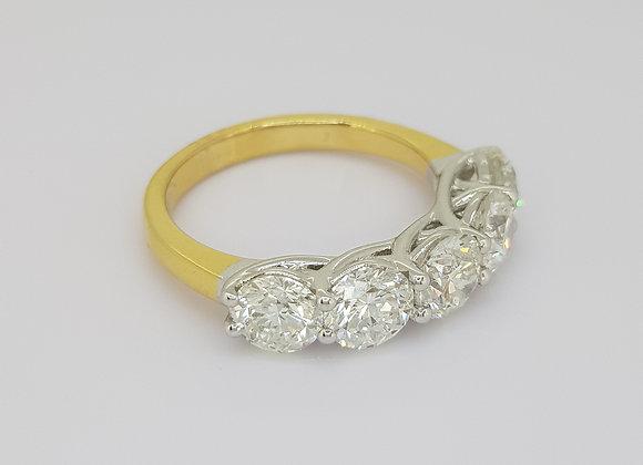 Five stone diamond ring 3.0cts