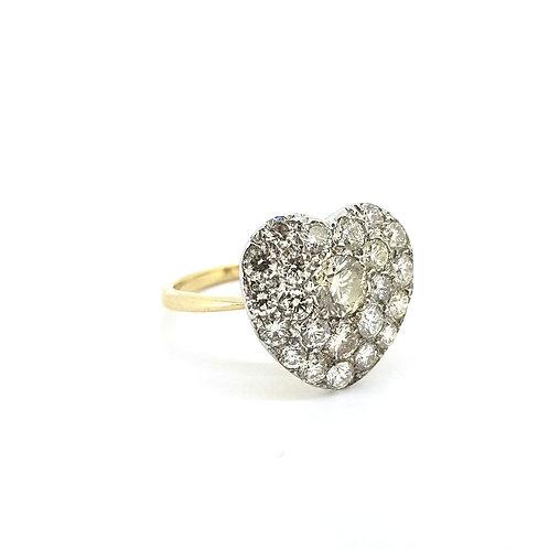 Diamond heart ring est.2.0CTS