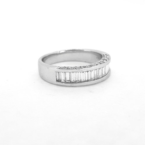 Half eternity ring D0.84Cts 18Ct