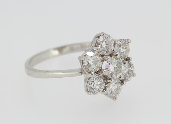 Diamond cluster ring d2.50cts
