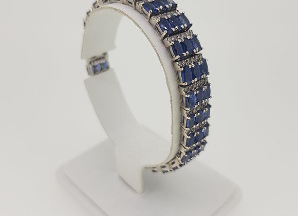 15ct sapphire and diamond bracelet