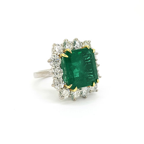 Certified Zambian Emerald 10.42Cts D2.82cts