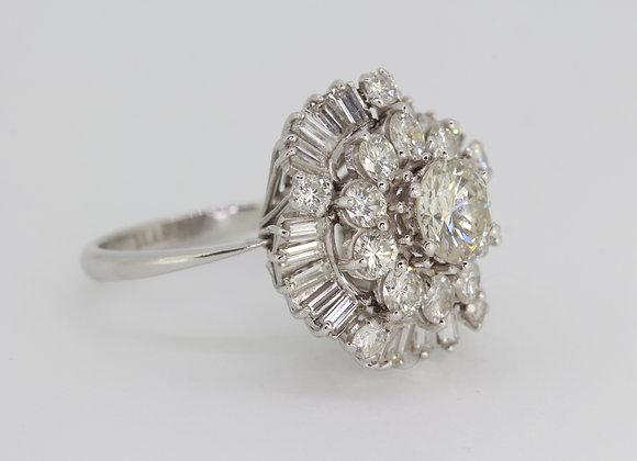 Vintage diamond cluster ring circa 1960