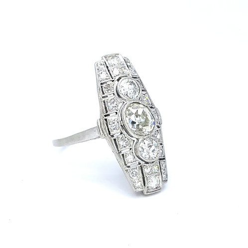 Platinum Art Deco diamond ring.