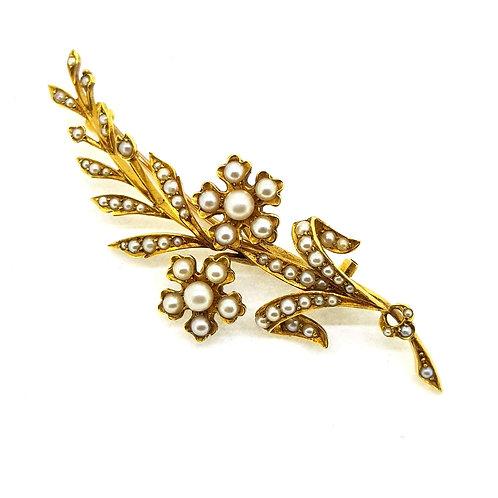 Antique Pearl  brooch