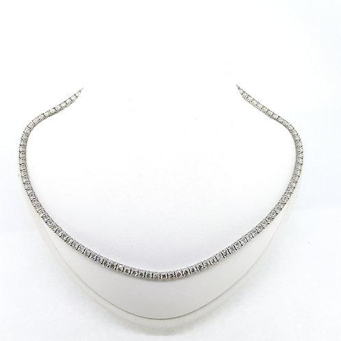 Diamond line necklace 15.80Cts