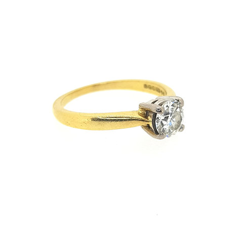 Solitaire diamond ring D0.63CTS