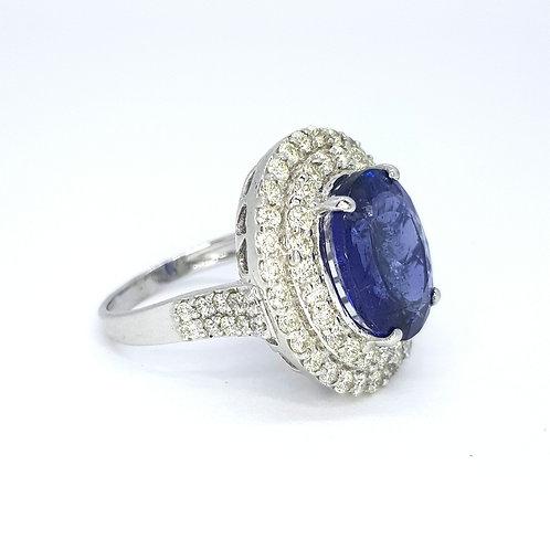 Tanzanite and diamond ring TZ9.89cts D1.80cts