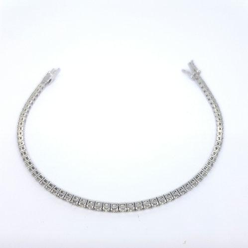 18ct diamond line bracelet D3.20CTS