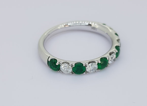 Emerald and diamond half et ep.58cts d0.43cts