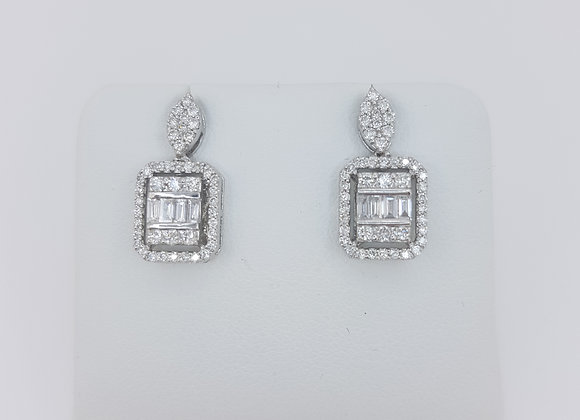 18ct diamond drop earrings