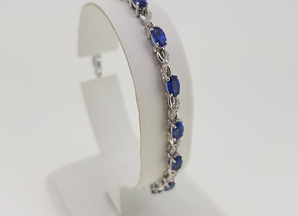 Diamond and sapphire bracelet s4.79cts d.25cts