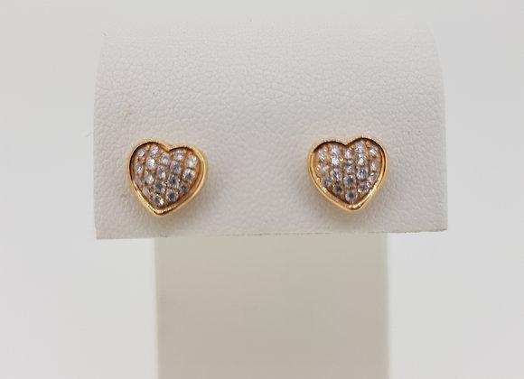 18ct diamond heart earrings d.25cts