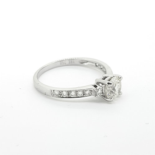 Solitaire diamond ring D0.68cts Centre
