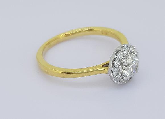 Daisy diamond cluster ring tdw0.74cts