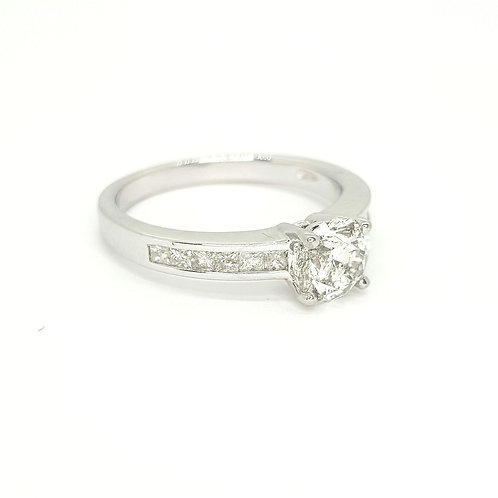 Solitaire diamond ring d1.03cts