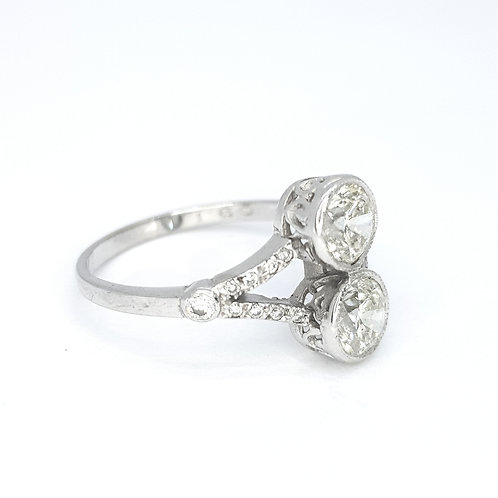 Double diamond ring D1.60CTS