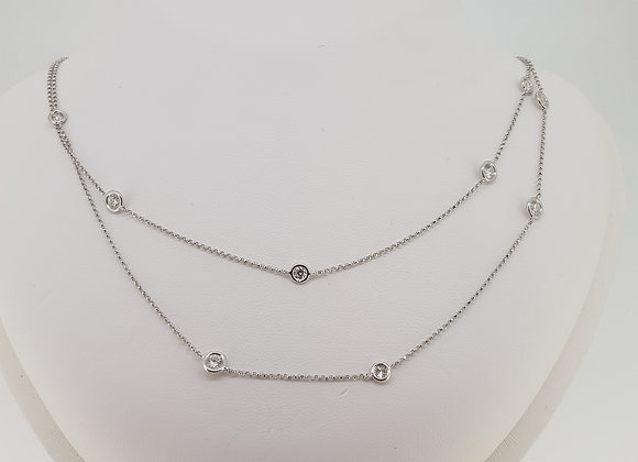 Brilliant ct diamond long chain 2.72cts