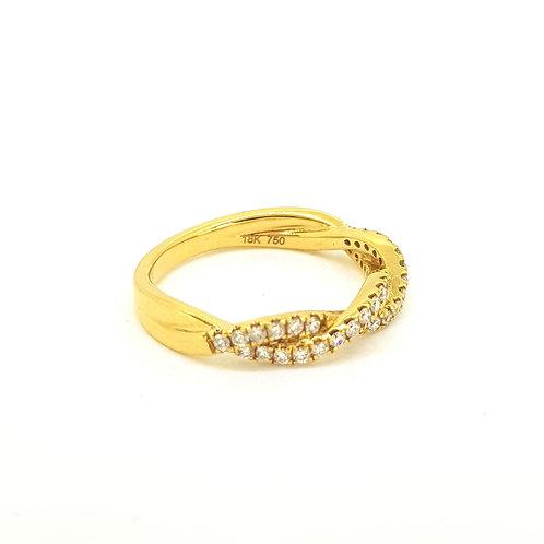 Diamond twist ring D.38ct