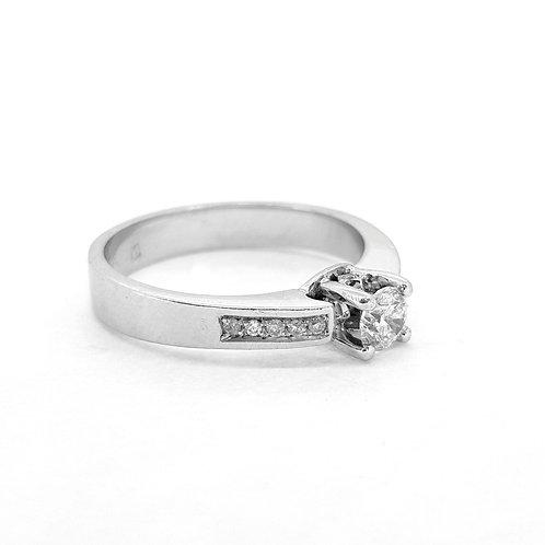 Single stone diamond ring CS0.39Cts