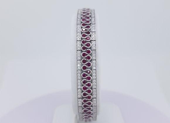 Ruby and diamond bracelet 18.25cm r5.80cts d2.56cts