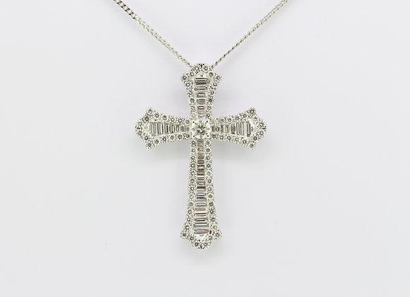 18ct Diamond cross.