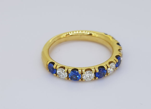 Sapphire and diamond half et sp.75cts d0.50cts