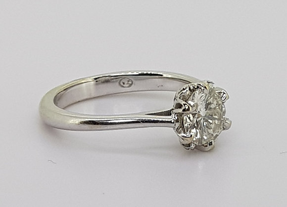 Solitaire diamond ring 0.85cts