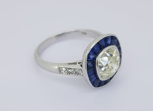 Sapphire and diamond ring 1.96cts