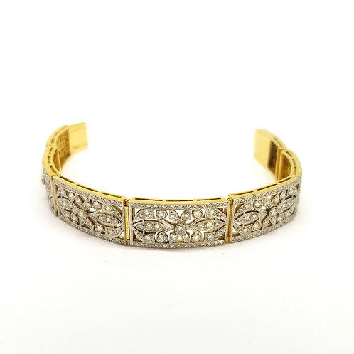 1930s Art Deco old cut diamond bracelet