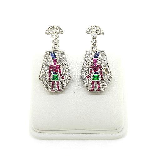 Egyptian 18Ct diamond earrings
