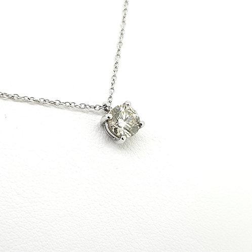 Solitaire diamond pendant D0.70Cts