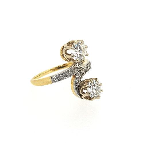 Edwardian diamond Xover ring.
