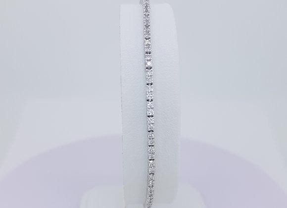 Diamond line bracelet 1.40cts