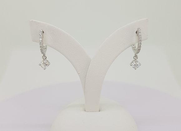 Diamond drop earrings 0.50cts