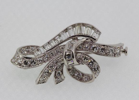 Vintage diamond brooch.