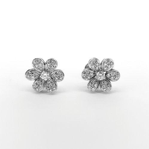 Diamond daisy cluster studs D1.50est.