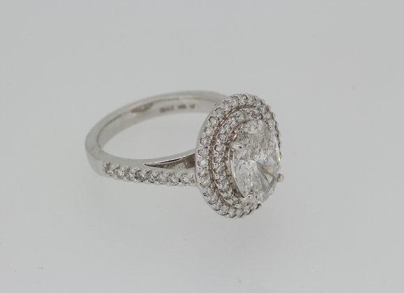 Diamond halo cluster ring.