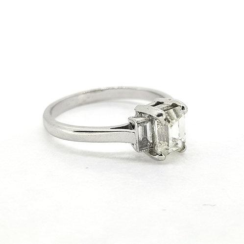 Emerald cut diamond ring D1.03Ctsx0.24Cts