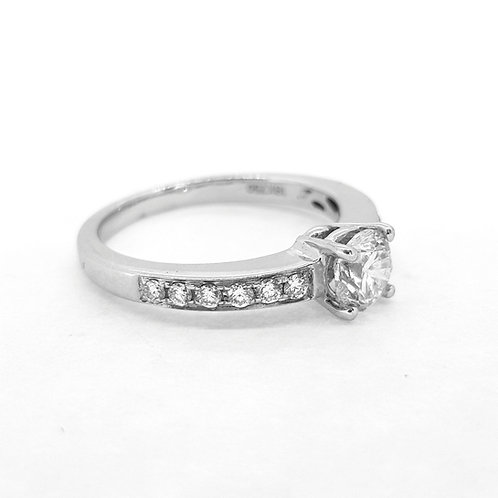 Solitaire diamond with diamond shoulders CS0.70CTS X0M23CTS
