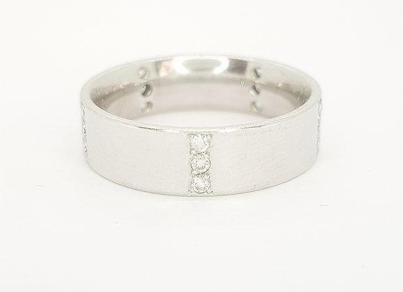 Platinum and diamond wedding band.