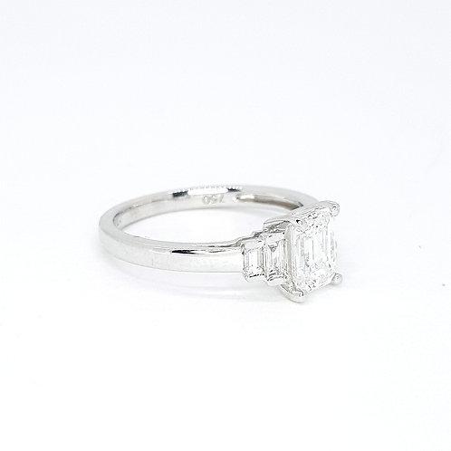 1.01CTS Emerald cut GIA Certified E colour VS1