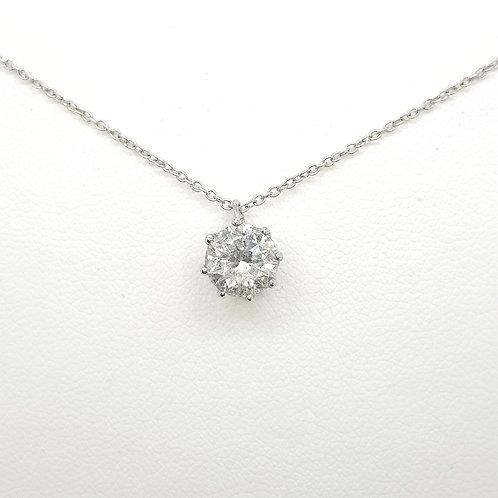 Solitaire diamond pendant 1.10CTS