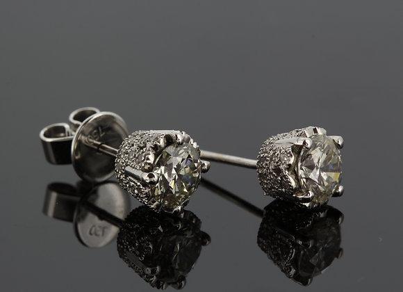 18ct diamond stud earrings 1.51cts