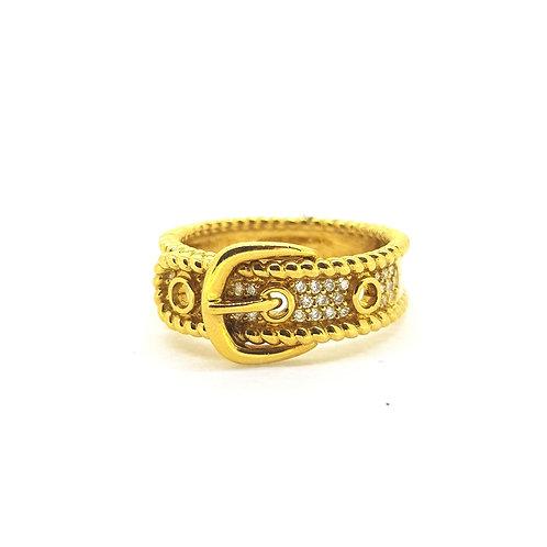18Ct Diamond Buckle ring 6.5gms
