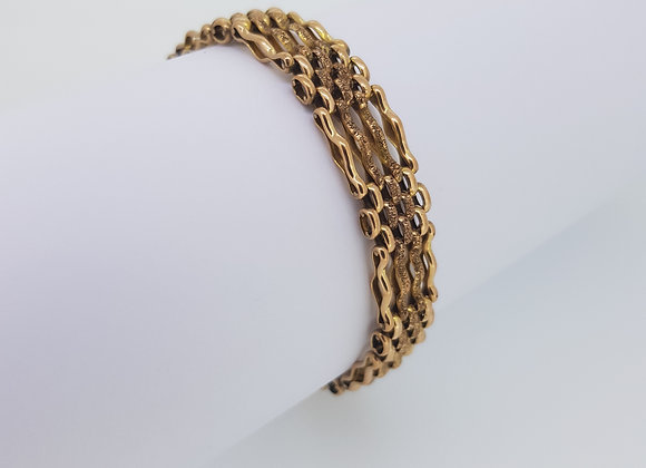 Victorian gate bracelet and padlock