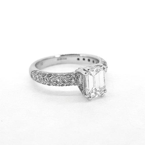 Emerald cut diamond ring  est. 1.0Cts